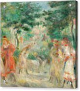 The Croquet Party Girls In The Garden Acrylic Print