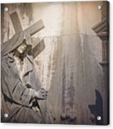 The Crosses We Bear Prazeres Historic Cemetery Lisbon Portugal Acrylic Print