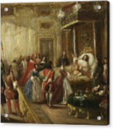 The Death Of Louis Xiv In Versailles Acrylic Print