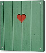 The Door To A Outhouse Acrylic Print