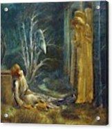 The Dream Of Lancelot Study Acrylic Print