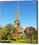 The Eiffel Tower With Some Autumnal Acrylic Print