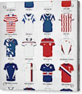 The Evolution Of The Us World Cup Soccer Jersey Acrylic Print