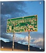 The Extraterrestrial Highway Acrylic Print