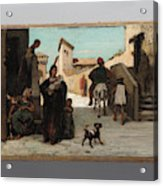 The Fable Of The Miller  His Son  And The Donkey  Acrylic Print