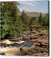 The Falls Of Dochart And Bridge At Killin In Scottish Highlands Acrylic Print