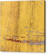 The Flaking Yellow Color With Scratched Acrylic Print