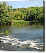 the ford at Etal on river Till Acrylic Print