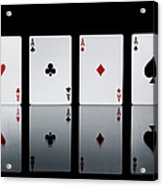 The Four Aces From A Pack Of Playing Acrylic Print