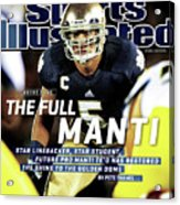 The Full Manti Notre Dame Sports Illustrated Cover Acrylic Print
