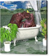 The Hippo Tub Acrylic Print
