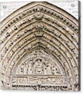 The Judgement Portal Of Notre Dame De Paris Acrylic Print