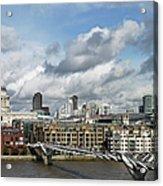 The London Skyline Towards St Pauls Acrylic Print