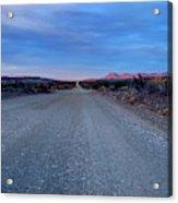 The Long Dirt Road Acrylic Print