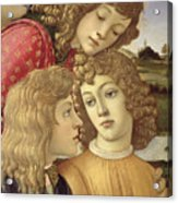 The Madonna Of The Magnificat, Detail Of Three Boys, 1482 Acrylic Print