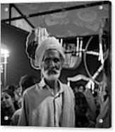 The Many Shades Of Delhi - Turbaned Man Acrylic Print