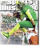 The Mayhem Begins The Case For Marcus Mariota And Oregon In Sports Illustrated Cover Acrylic Print