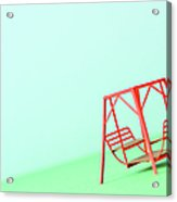 The Model Of The Swing Made Of The Paper Acrylic Print