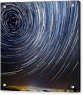 The Motion Of Stars Around Pole Star In Acrylic Print
