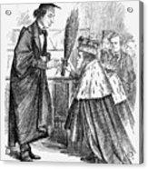 The New Head Master, 1868. Artist John Acrylic Print