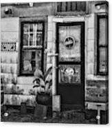 The Old Country Store Black And White Acrylic Print
