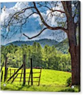 The Old Red Gate Acrylic Print