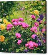 The Painted Garden Acrylic Print