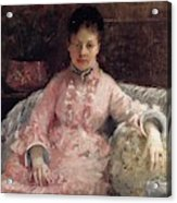 The Pink Dress Also Known As Poop - 1870 - Pc Acrylic Print