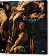 The Raising Of The Cross, 1620 Acrylic Print