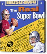 The Real Super Bowl, 1995 Nfc Championship Preview Sports Illustrated Cover Acrylic Print