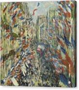 The Rue Montorgueil In Paris  Celebration  Acrylic Print
