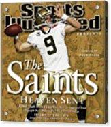 The Saints, Heaven Sent Super Bowl Xliv Champions Sports Illustrated Cover Acrylic Print