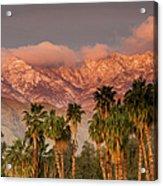 The San Jacinto And Santa Rosa Mountain Acrylic Print
