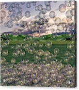 The Simplicity Of Bubbles  Acrylic Print