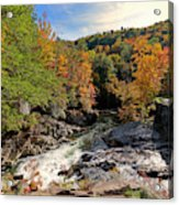 The Sinks On Little River Road In Smoky Mountains National Park Acrylic Print