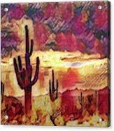 The Sonoran Saguaro  Acrylic Print