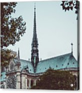 The Spire - Cathedral Of Notre Dame Paris France Acrylic Print