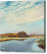 The Susaa River At Naestved, Denmark Acrylic Print