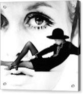 Twiggy Swinging 60's - Pop Art Acrylic Print
