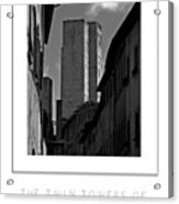 The Twin Towers Of San Gimignano, Italy Poster Acrylic Print