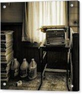 The Typewriter Acrylic Print
