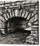The Underpass Black And White Acrylic Print