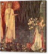 The Vision Of The Holy Grail To Sir Galahad Sir Bors And Sir Perceval Acrylic Print