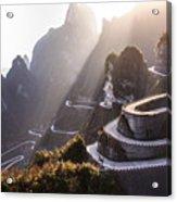 The Winding Road Of Tianmen Mountain Acrylic Print