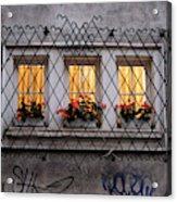 The Windows Of Sofia Acrylic Print