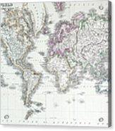 The World On Mercators Projection Acrylic Print