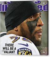 There Will Be A Valiant Last Stand Super Bowl Xlvii Preview Sports Illustrated Cover Acrylic Print