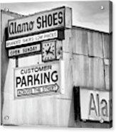 These Shoes Alamo Shoes Acrylic Print