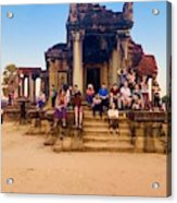 They Come To See Angkor Wat, Siem Reap, Cambodia Acrylic Print