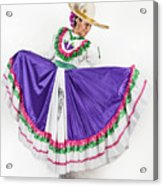 This Charming Dancer Is Wearing A Acrylic Print